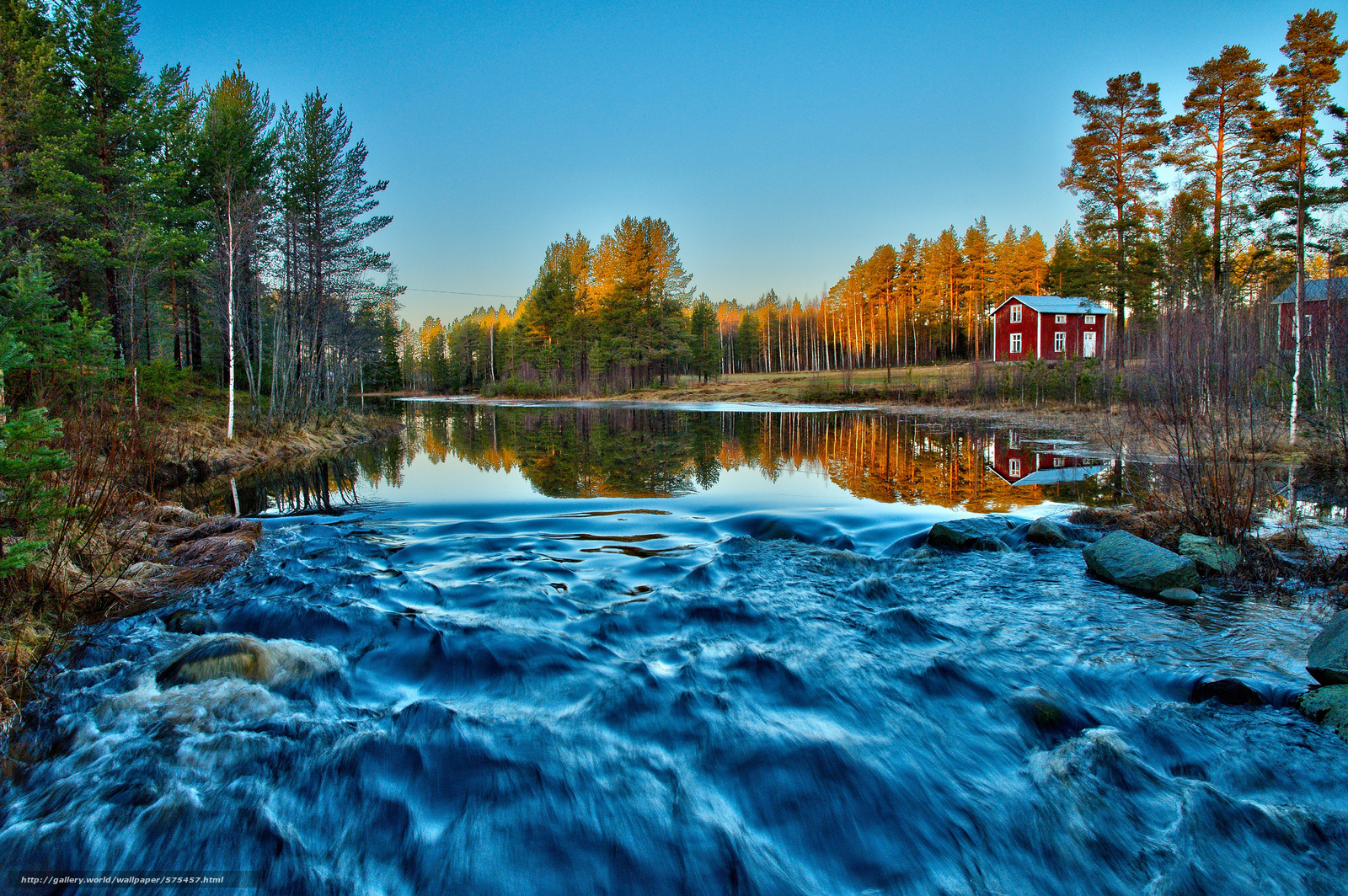Tlcharger Fond d'ecran forêt,  FLOW,  matinée,  rivière Fonds d'ecran gratuits pour votre rsolution du bureau 2048x1362 — image №575457