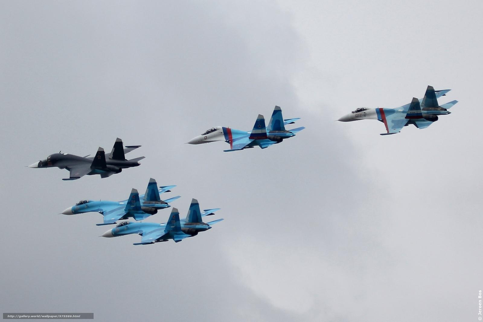 Скачать обои ВВС Росии,  самолёты,  СУ,  истребители бесплатно для рабочего стола в разрешении 2904x1936 — картинка №575589