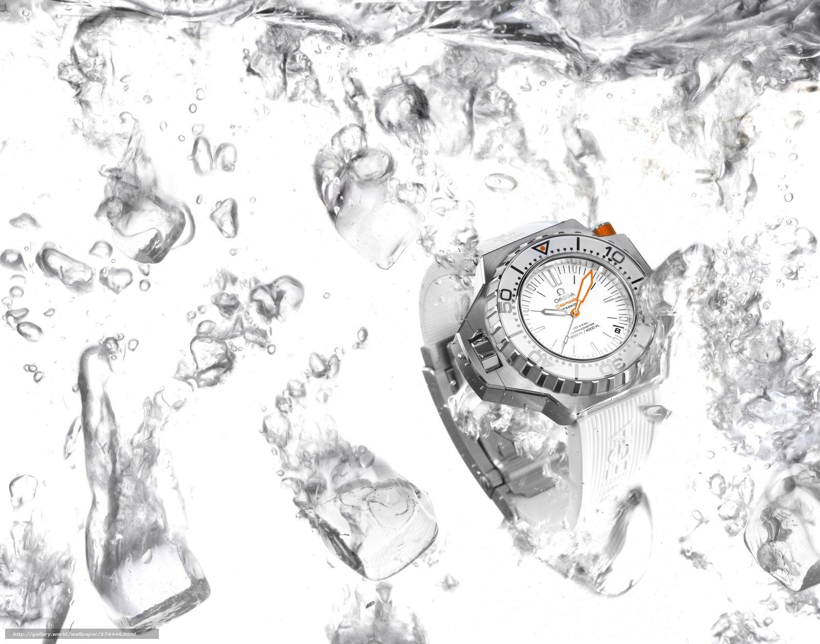 Скачать обои вода,  Hi-Tech,  Часы бесплатно для рабочего стола в разрешении 3000x2357 — картинка №576446