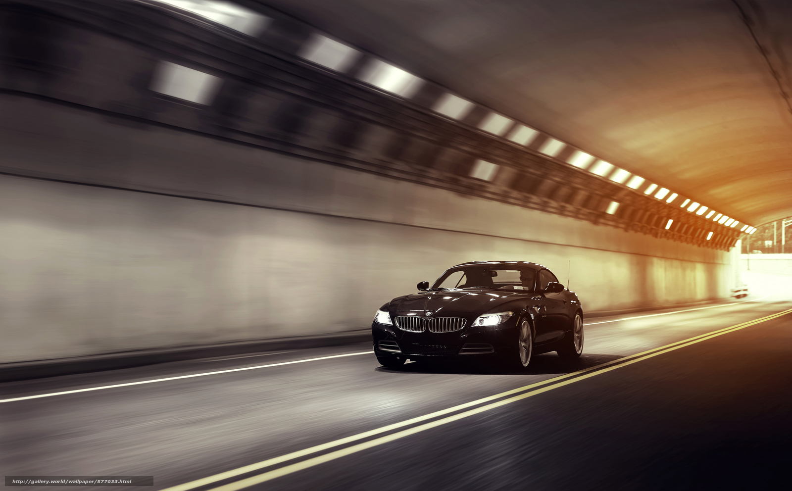 Download wallpaper BMW,  tunnel,  speed free desktop wallpaper in the resolution 2048x1270 — picture №577033