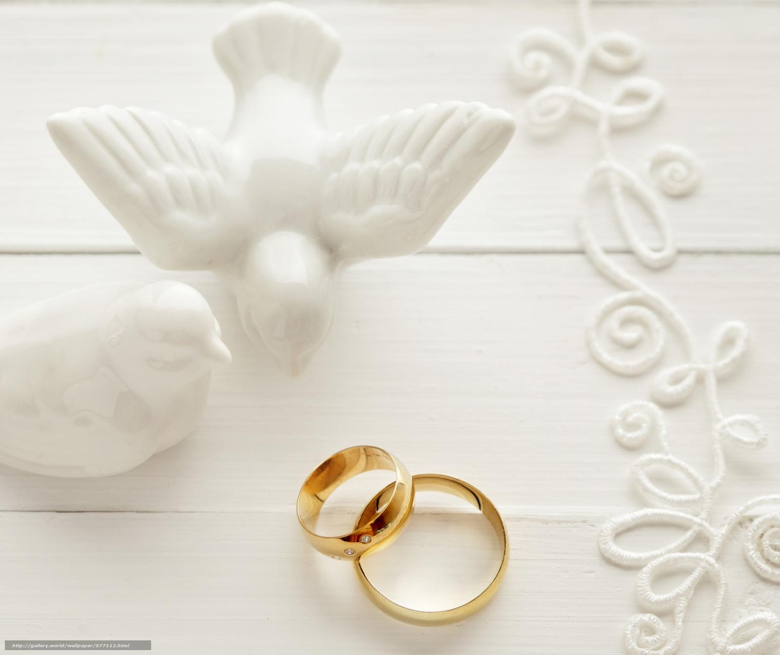Download hintergrund schn ren hochzeits ringe tauben for Immagini fedi nuziali da stampare