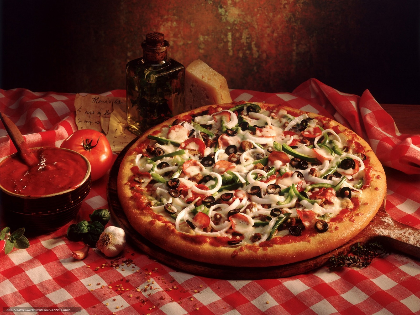 scaricare gli sfondi pepe,  aglio,  olio d'oliva,  pensione Sfondi gratis per la risoluzione del desktop 1920x1440 — immagine №577249