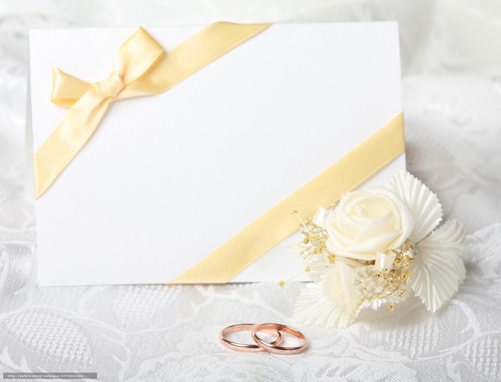 Mariage Fond D écran Hd Télécharger: Tlcharger Fond D'ecran Anneaux De Mariage, Carte, Fleuron