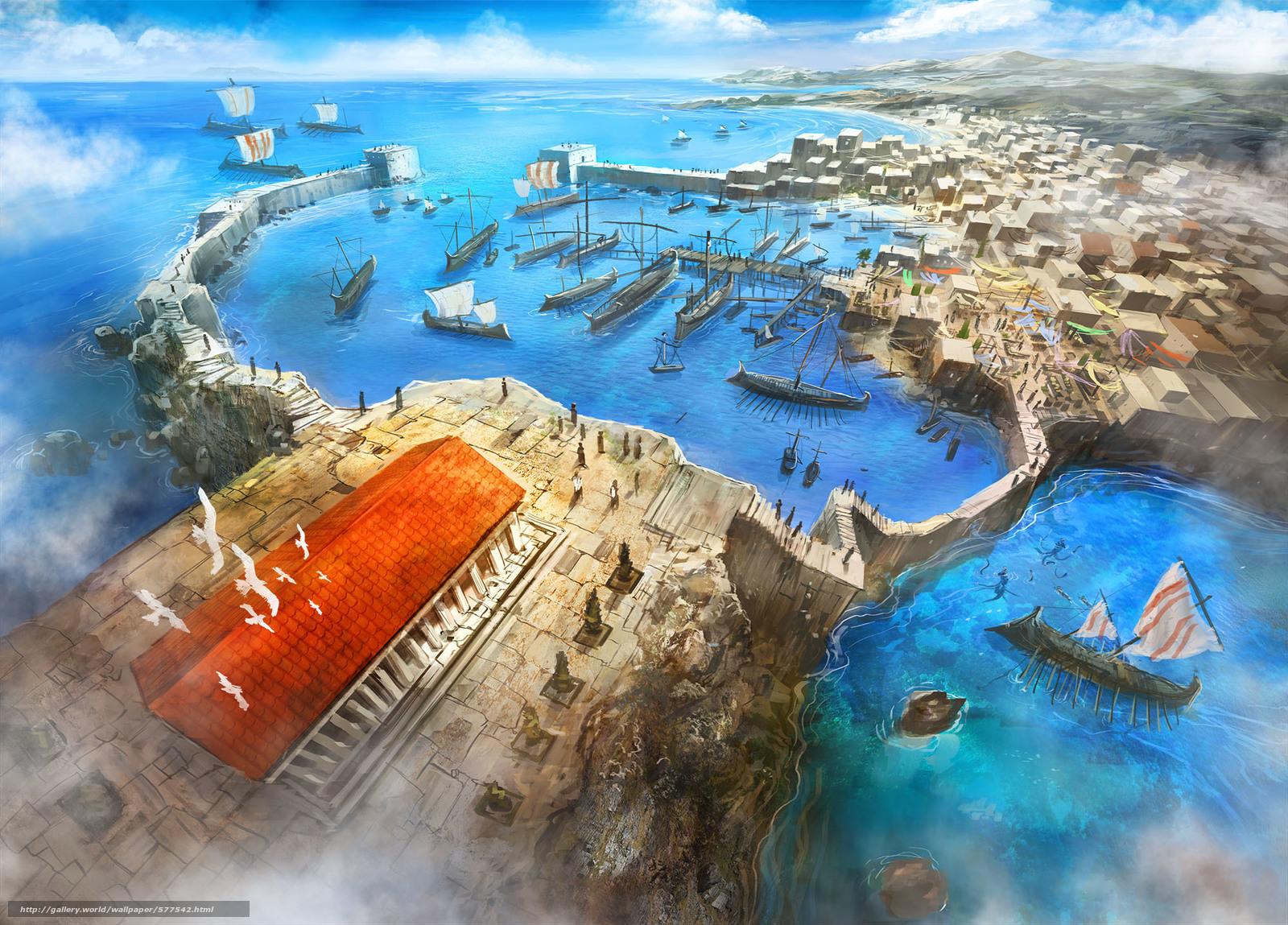 scaricare gli sfondi tempio,  Art,  città,  persone Sfondi gratis per la risoluzione del desktop 2000x1436 — immagine №577542