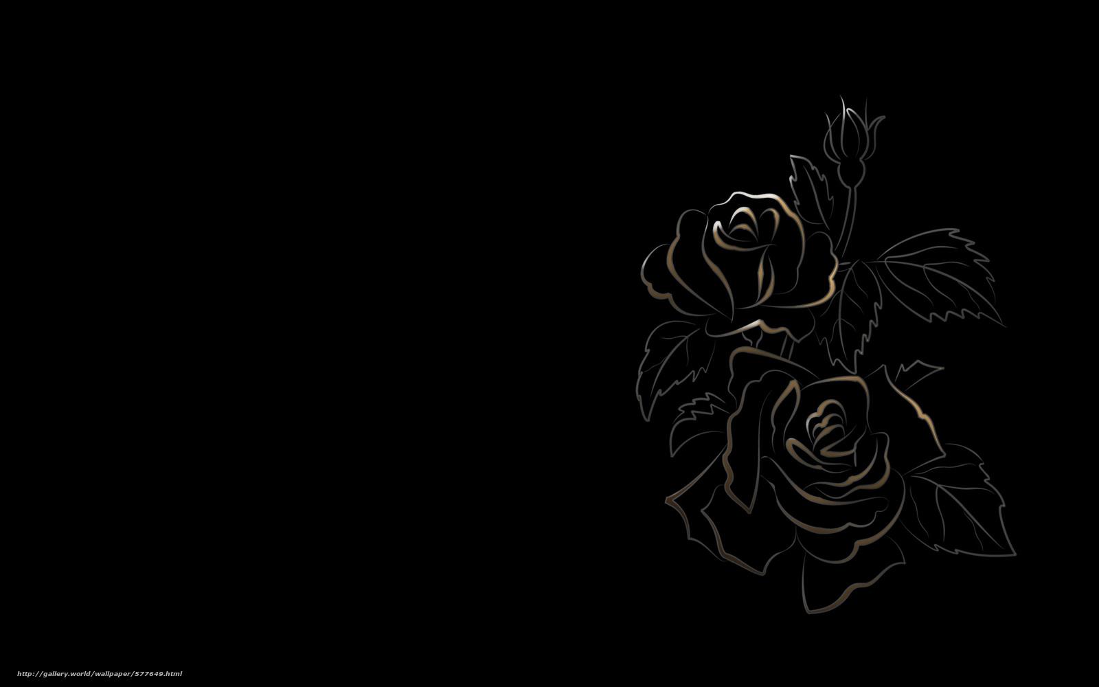 Tlcharger fond d 39 ecran dessin fond noir fleurs fonds d - Dessin fond noir ...