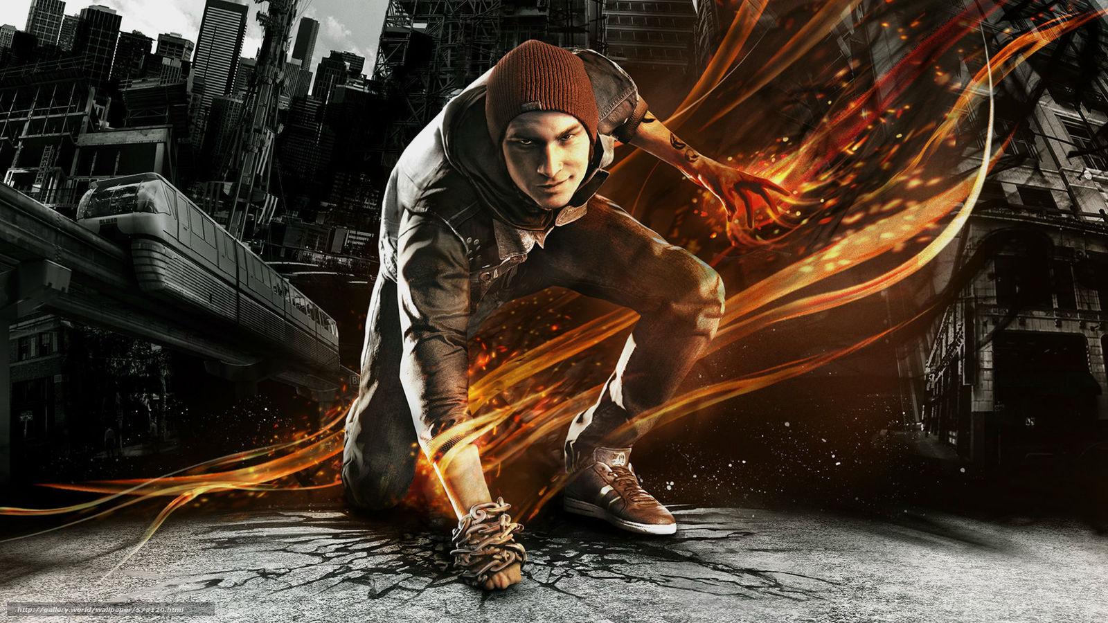 Download wallpaper tattoo,  gumshoes,  InFamous: Second Son,  Cap free desktop wallpaper in the resolution 1920x1080 — picture №578120