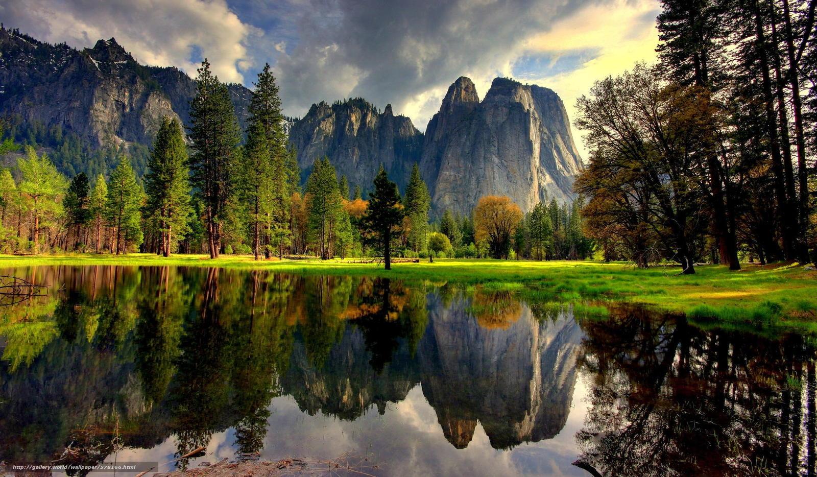 Descargar gratis lago,  reflexión,  Montañas,  EE.UU. Fondos de escritorio en la resolucin 2048x1196 — imagen №578166