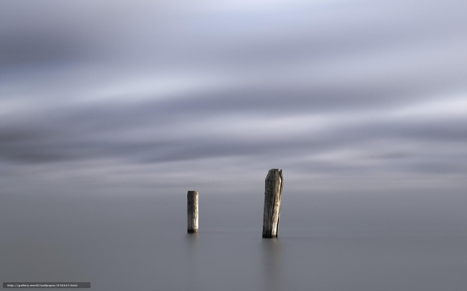 scaricare gli sfondi Pilastri,  minimalismo,  mare Sfondi gratis per la risoluzione del desktop 1920x1200 — immagine №578337