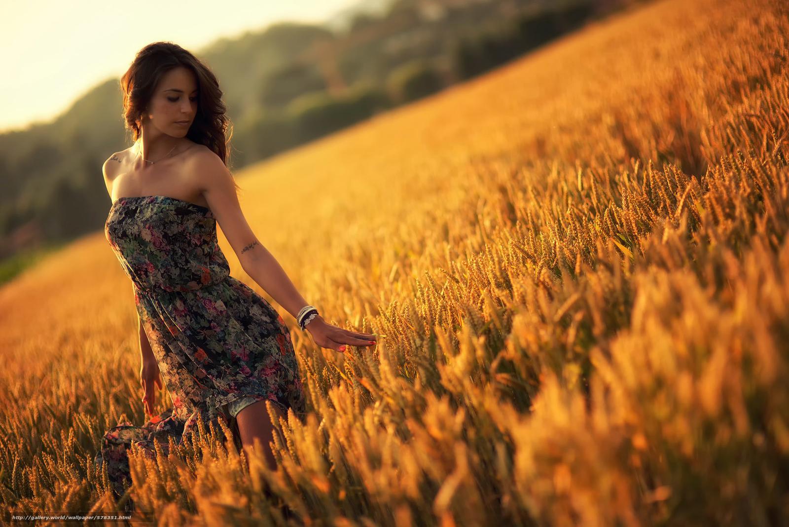 scaricare gli sfondi estate,  vestire,  ragazza,  tramonto Sfondi gratis per la risoluzione del desktop 1920x1281 — immagine №578351