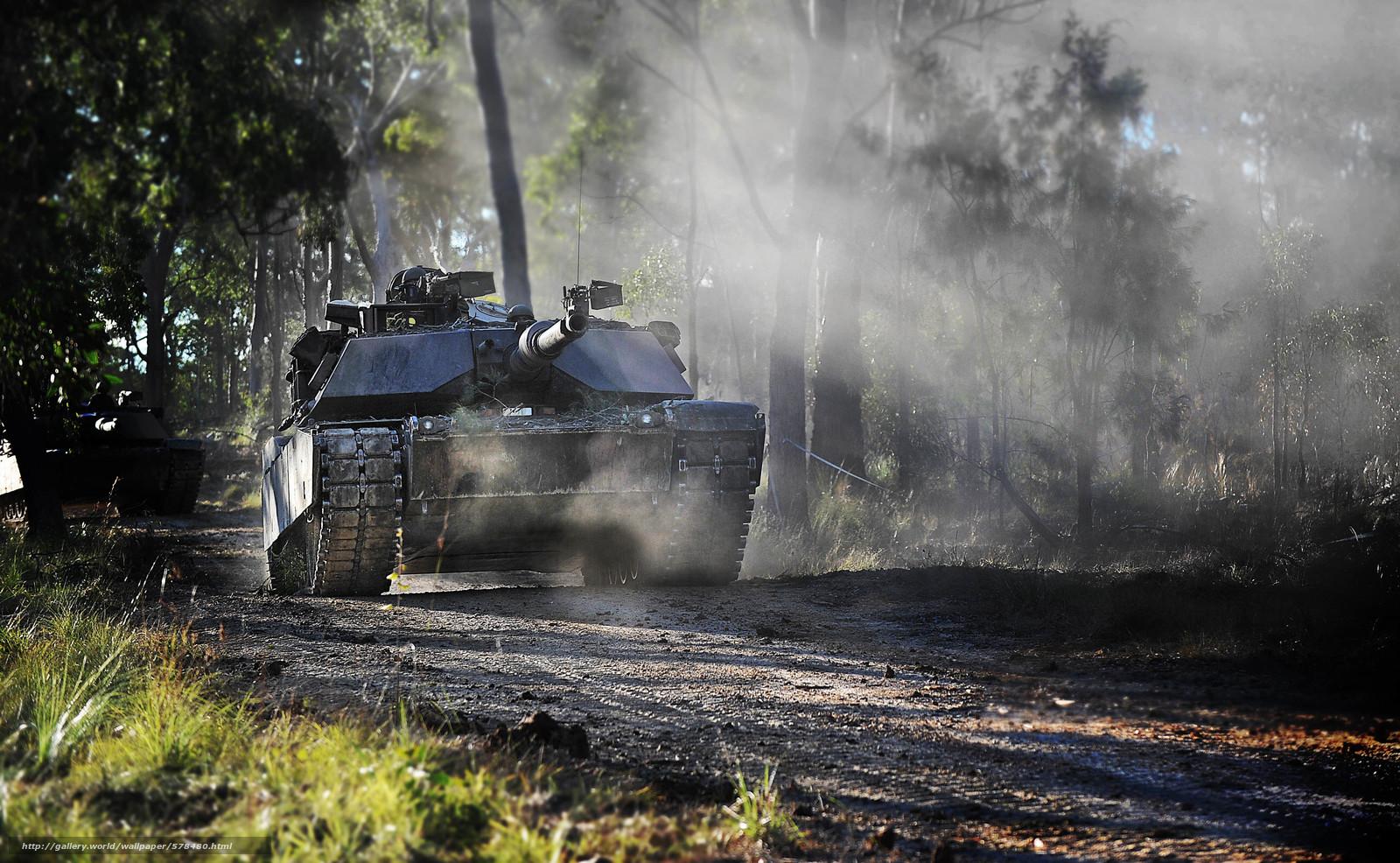 Скачать обои лес,  танк,  США,  военная техника бесплатно для рабочего стола в разрешении 3600x2218 — картинка №578480