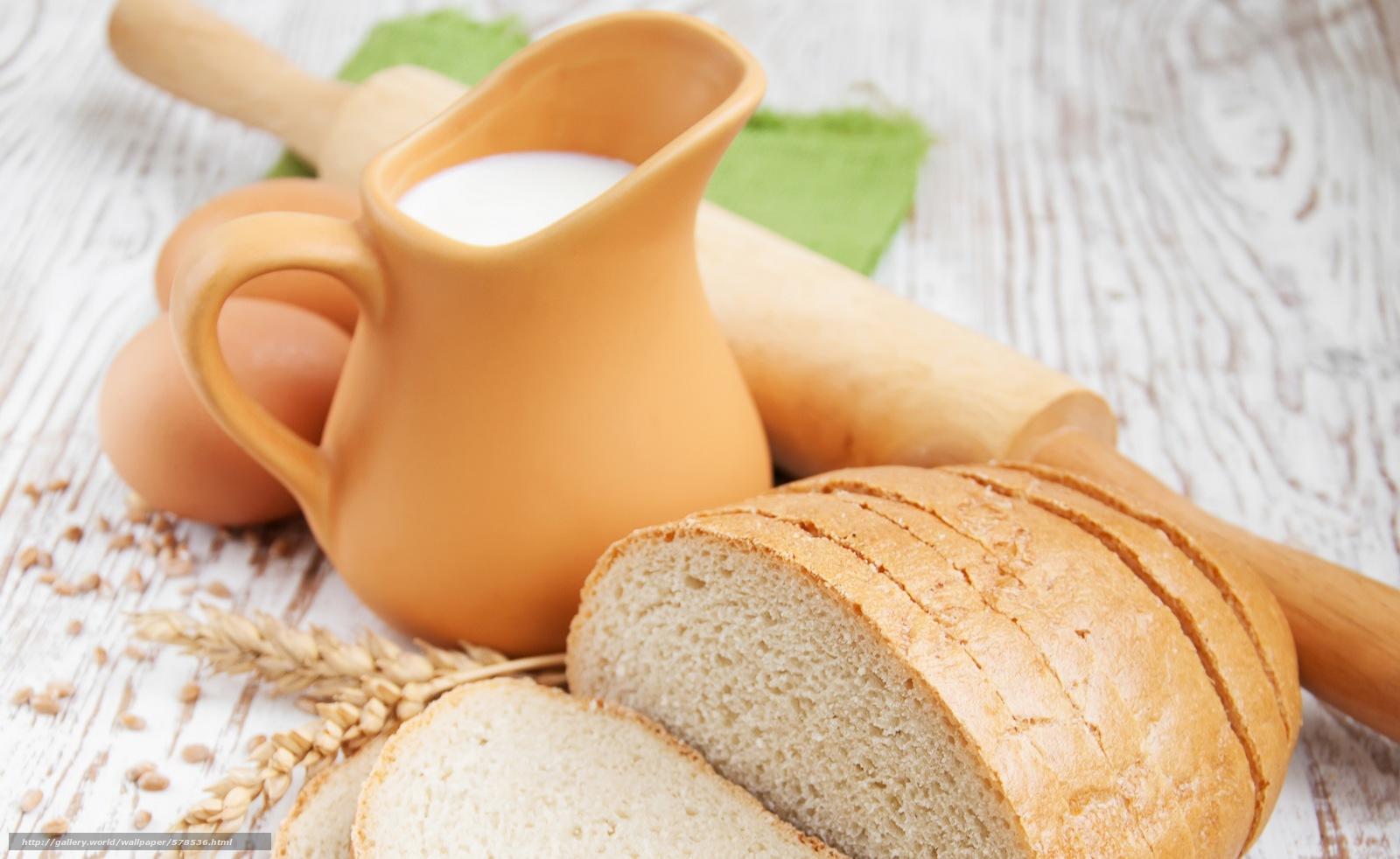 Скачать обои яйца,  хлеб,  кувшин,  скалка бесплатно для рабочего стола в разрешении 6500x3989 — картинка №578536