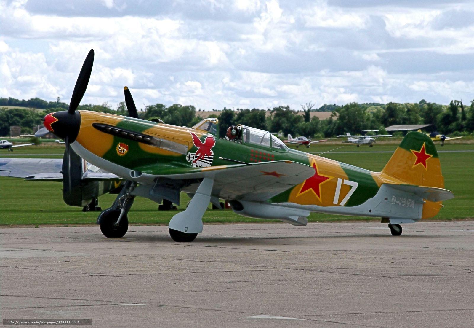 Скачать обои самолёт-истребитель,  советский,  Вов,  одномоторный бесплатно для рабочего стола в разрешении 4454x3080 — картинка №578579