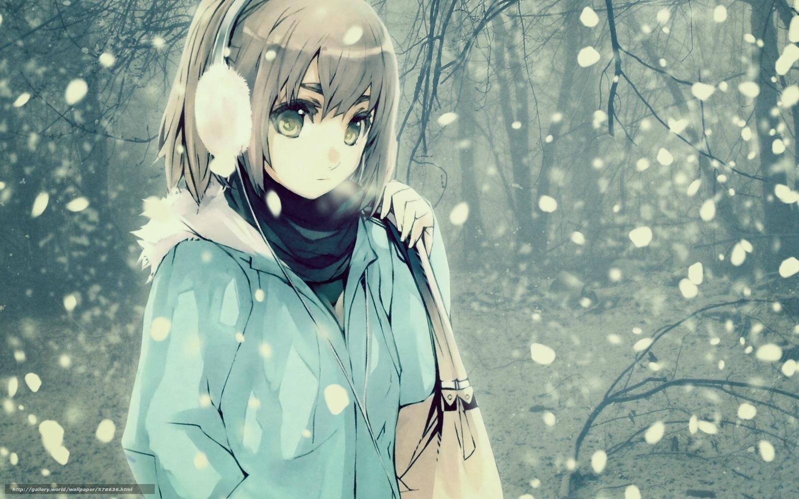 Скачать обои волосы,  зима,  сумка,  снег бесплатно для рабочего стола в разрешении 1920x1200 — картинка №578636