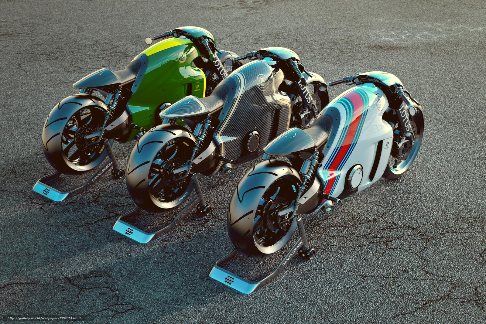 scaricare gli sfondi loto,  rendere,  moto,  motocicletta Sfondi gratis per la risoluzione del desktop 5000x3334 — immagine №579175
