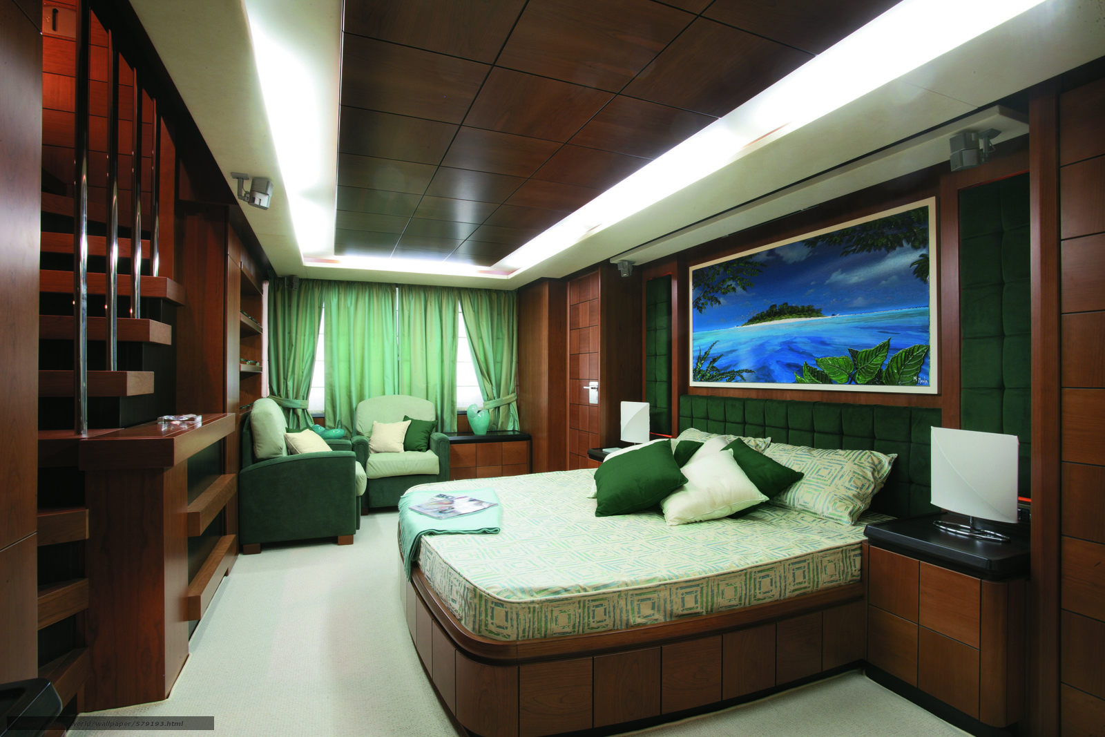 Download Wallpaper Luxury Yacht Interior Cabin Free