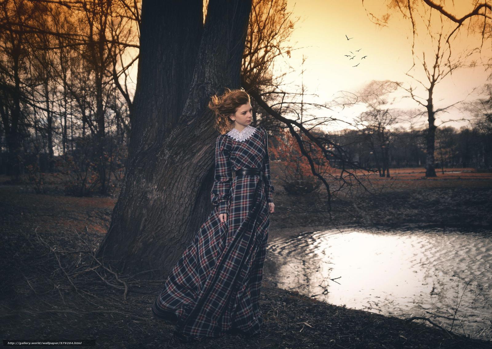 scaricare gli sfondi autunno,  parco,  Svetlana Koruleva,  ragazza Sfondi gratis per la risoluzione del desktop 2048x1454 — immagine №579204