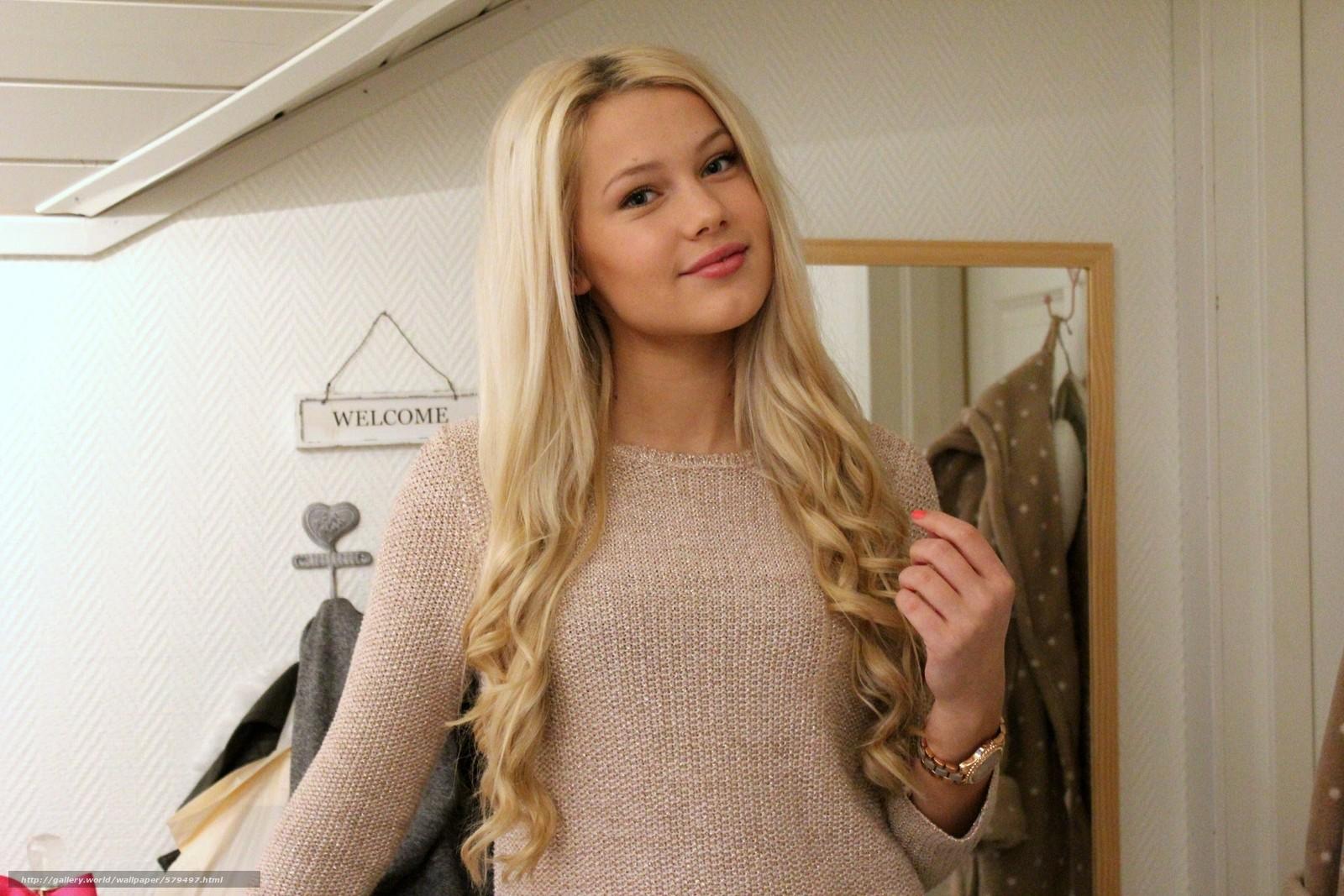 Скачать обои Erica Mohn Kvam,  white beauty,  blond бесплатно для рабочего стола в разрешении 2592x1728 — картинка №579497