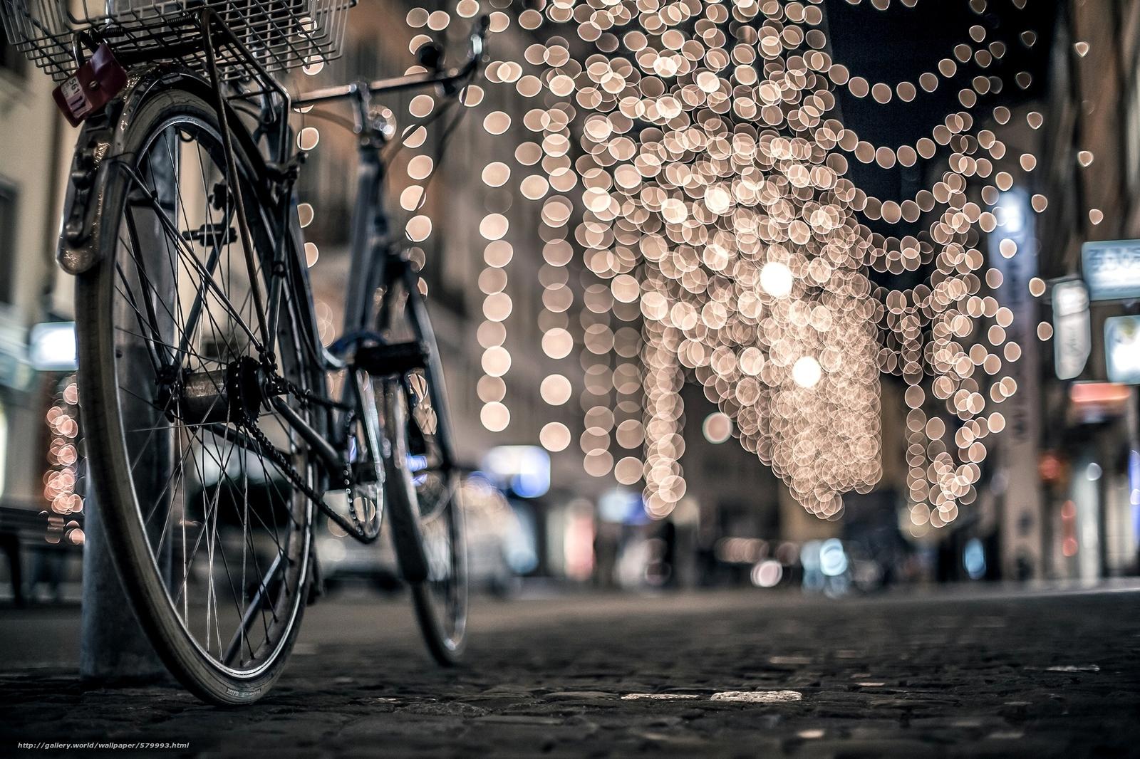 下载壁纸 城市,  自行车,  邮寄,  灯火 免费为您的桌面分辨率的壁纸 2000x1333 — 图片 №579993