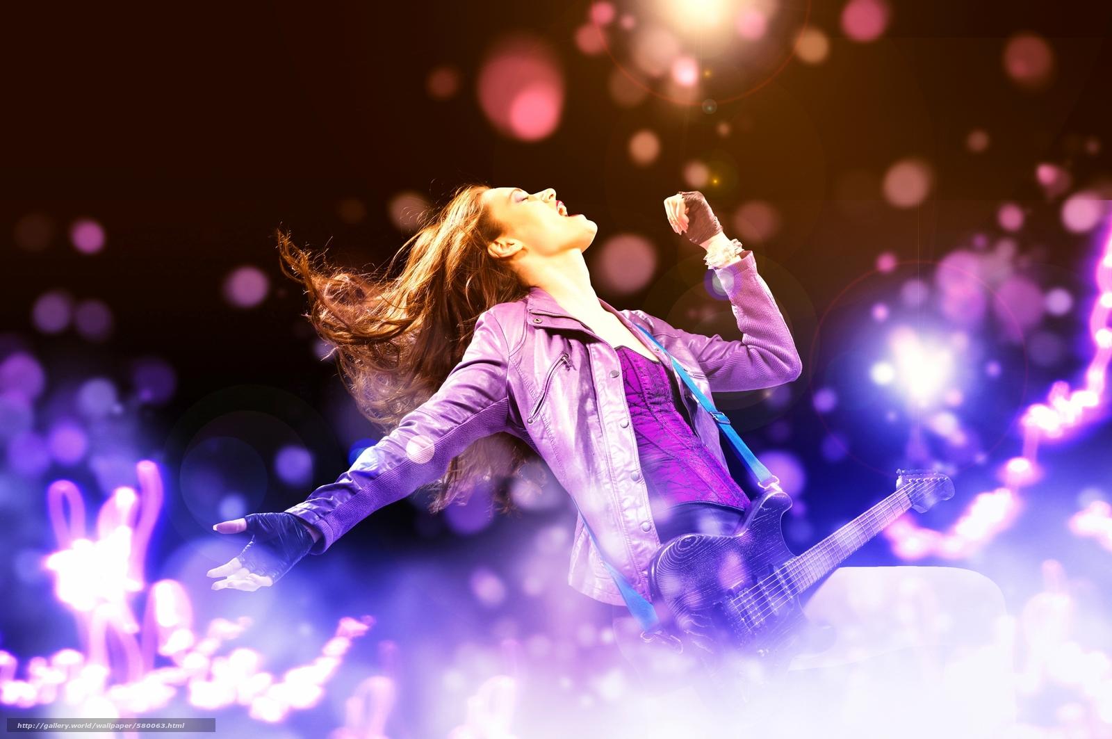 Download wallpaper guitar,  rock,  girl,  Music free desktop wallpaper in the resolution 3800x2524 — picture №580063