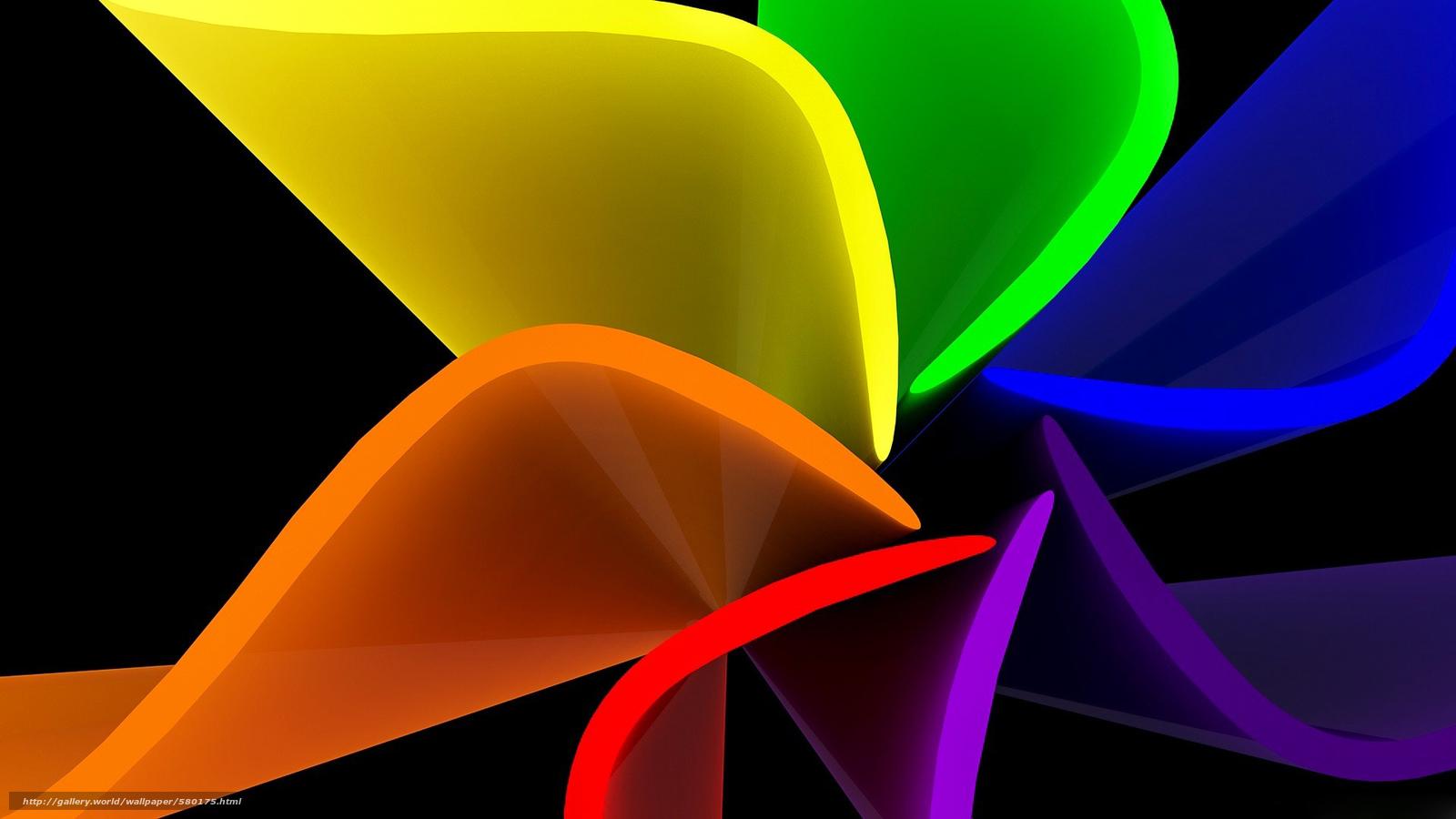 Скачать обои цветок,  радуга,  лист,  лепестки бесплатно для рабочего стола в разрешении 1920x1080 — картинка №580175