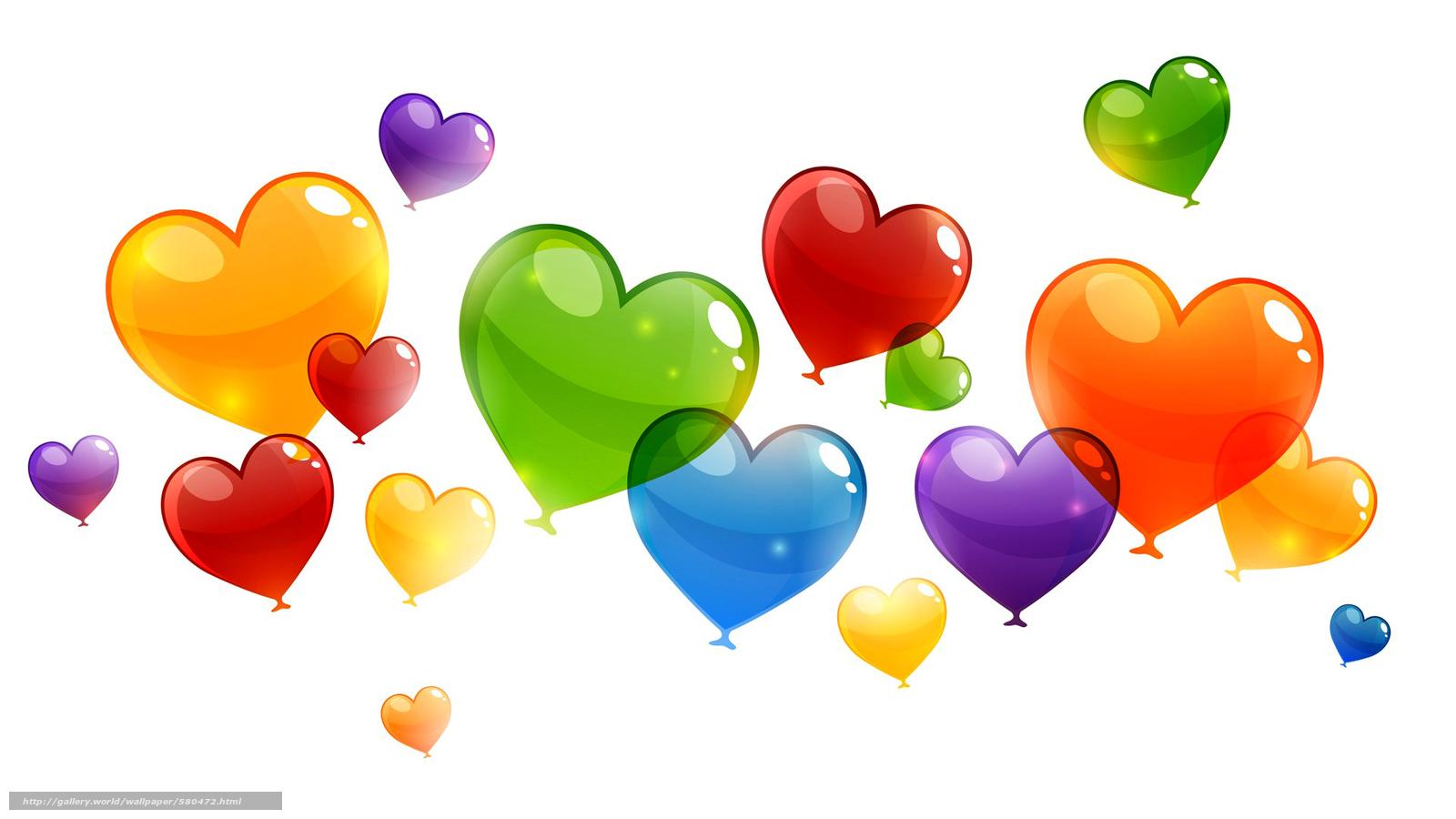 Tlcharger Fond d'ecran ballons, cœur, abstraction, Valentine Fonds d'ecran gratuits pour votre ...