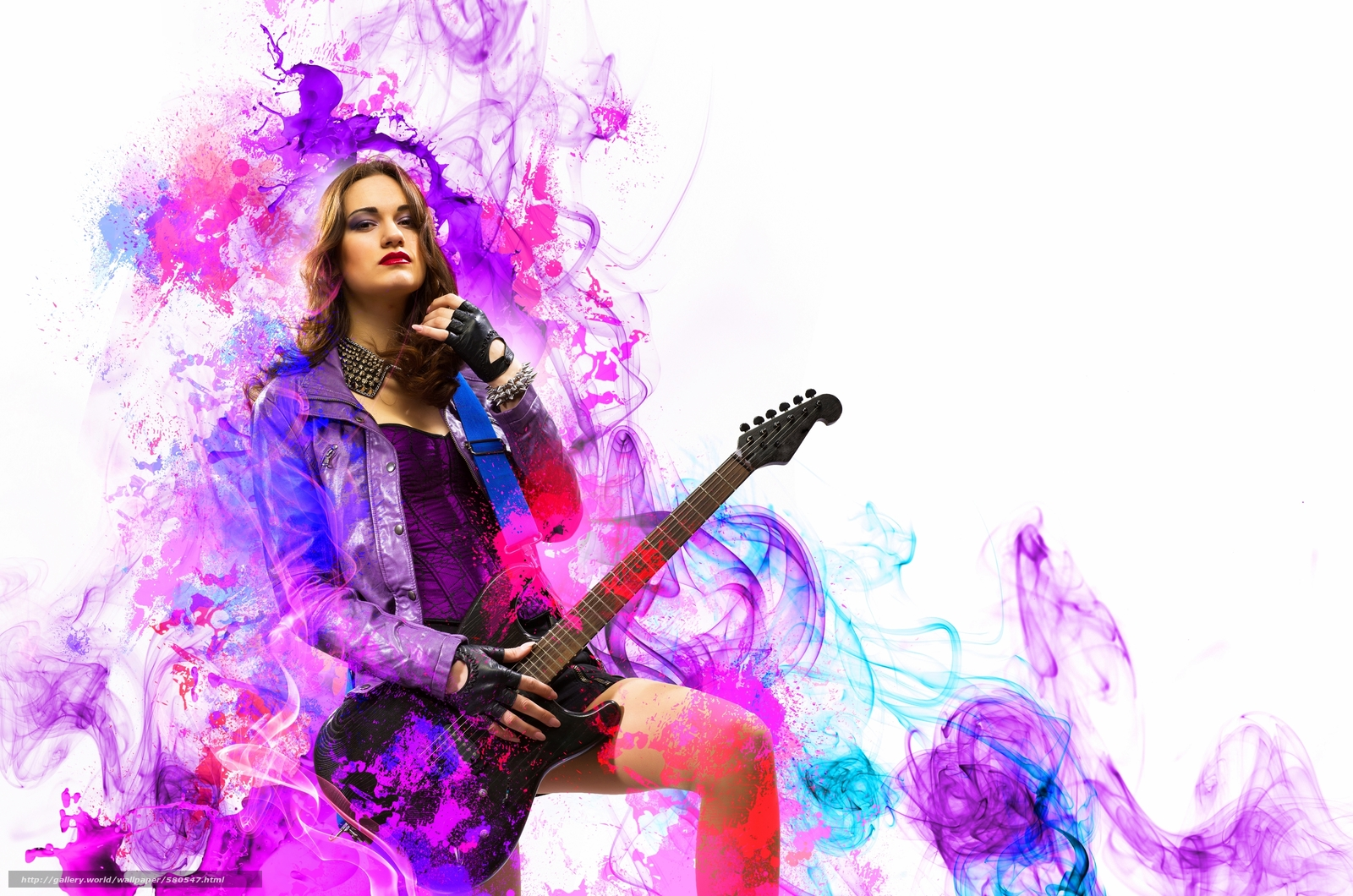 Download wallpaper Music,  guitar,  rock,  girl free desktop wallpaper in the resolution 3800x2517 — picture №580547