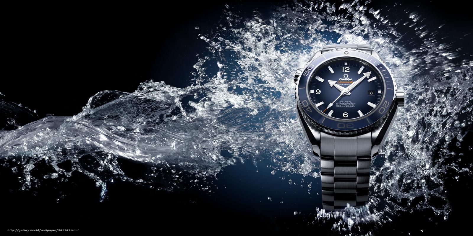 Download wallpaper watch,  water,  hi-tech free desktop wallpaper in the resolution 4725x2362 — picture №581281