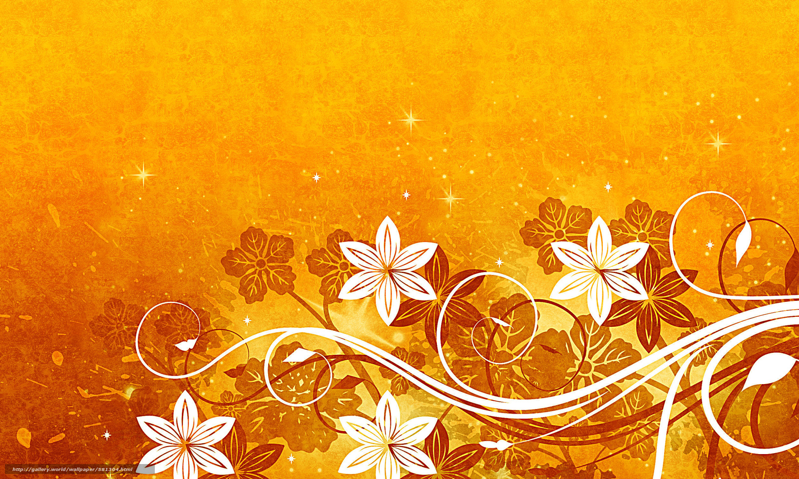 Download wallpaper Flowers,  Star,  yellow background free desktop wallpaper in the resolution 2500x1500 — picture №581304