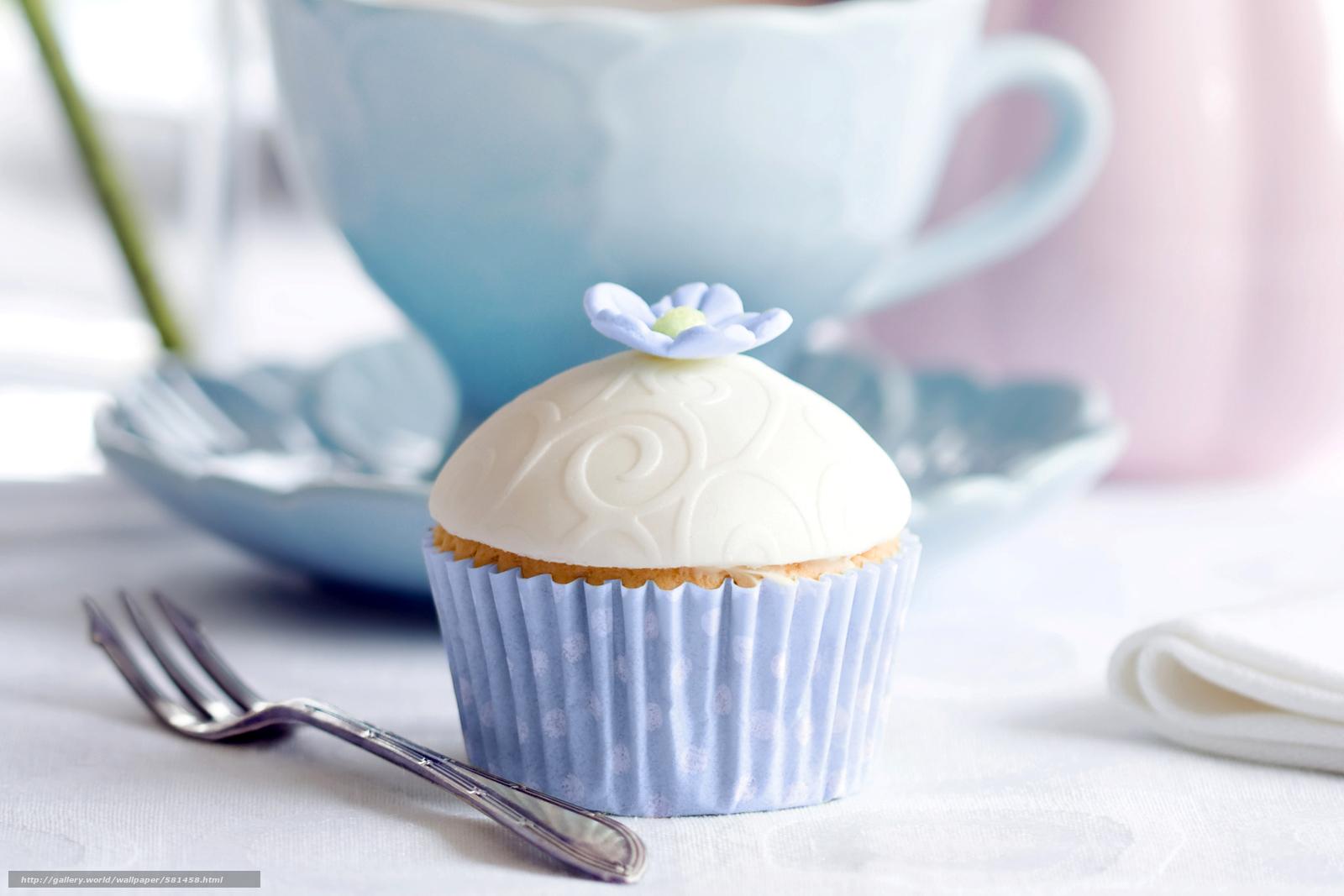 Download wallpaper floret,  fork,  cake,  dessert free desktop wallpaper in the resolution 3900x2600 — picture №581458