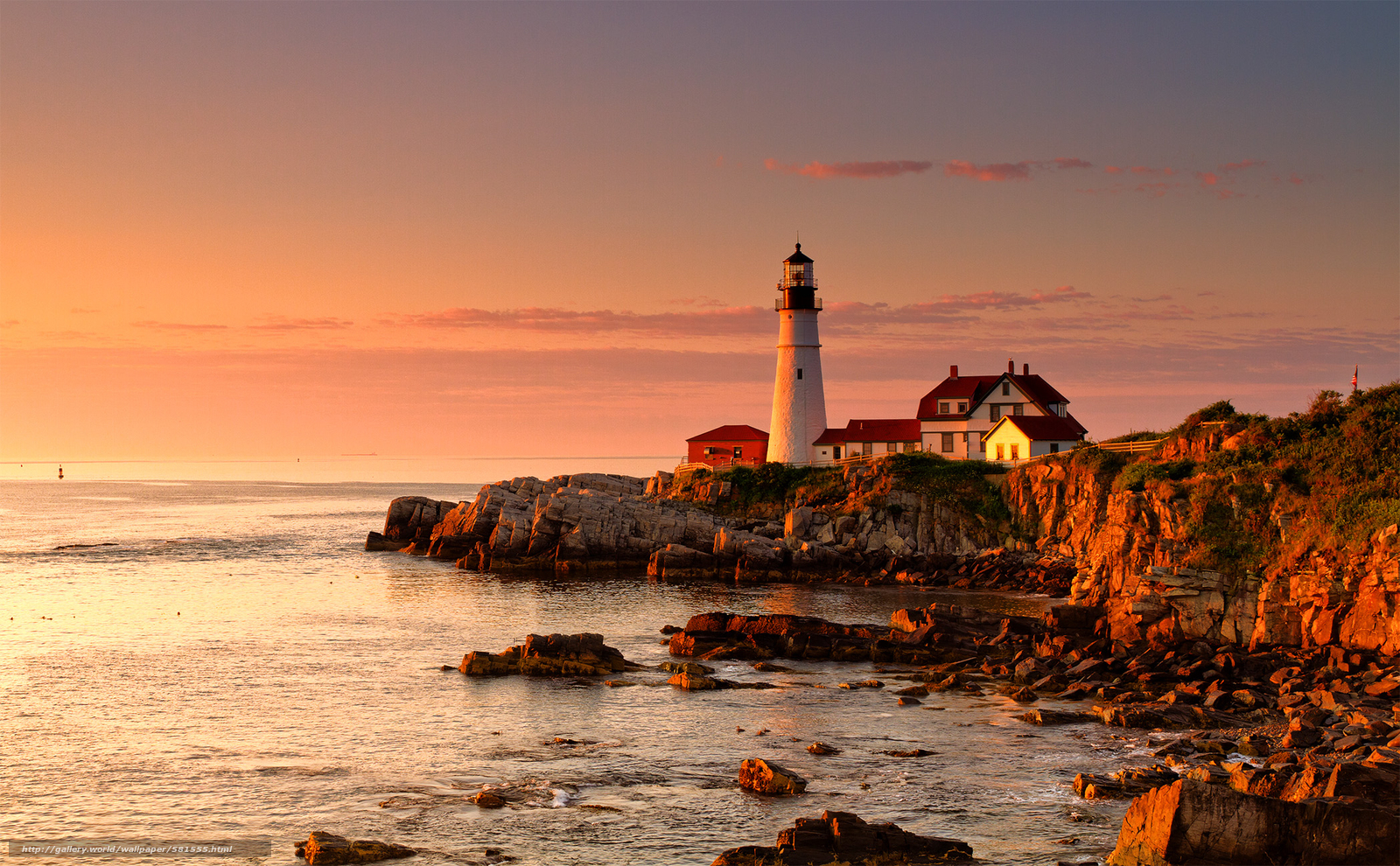 Download wallpaper Portland Head Light, Cape Elizabeth, Maine, lighthouse free desktop wallpaper in the resolution 2097x1297 — picture №581555