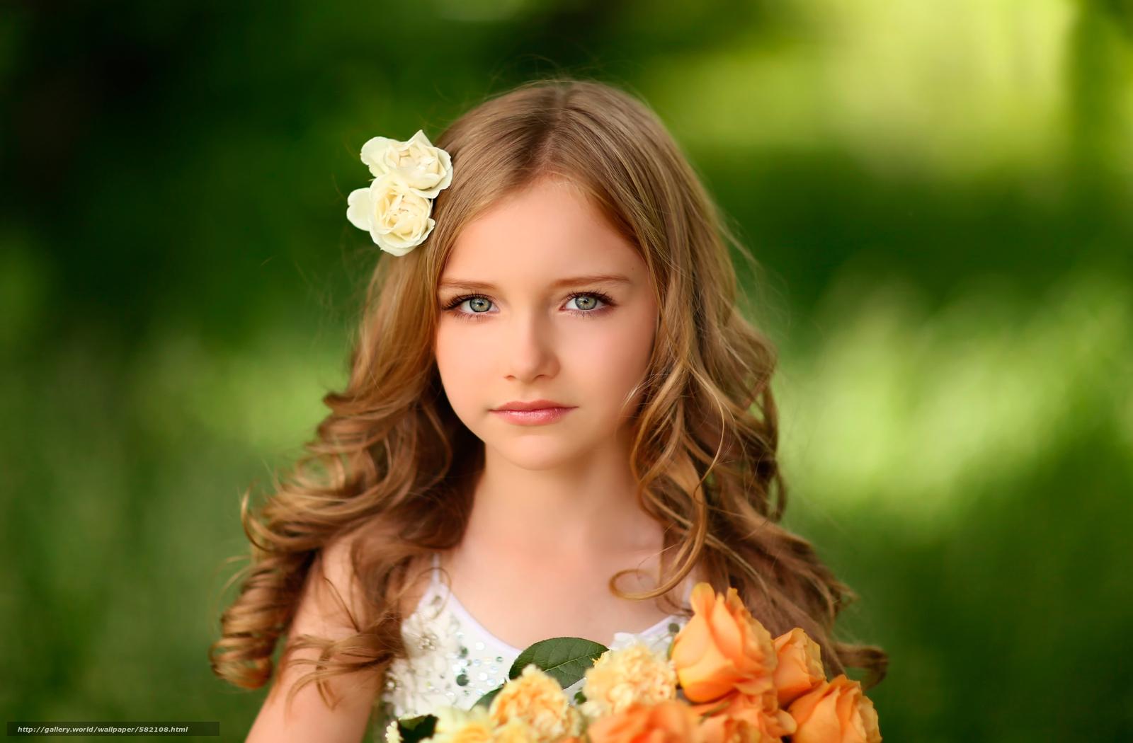 Скачать обои девочка,  портрет,  цветы бесплатно для рабочего стола в разрешении 2500x1640 — картинка №582108