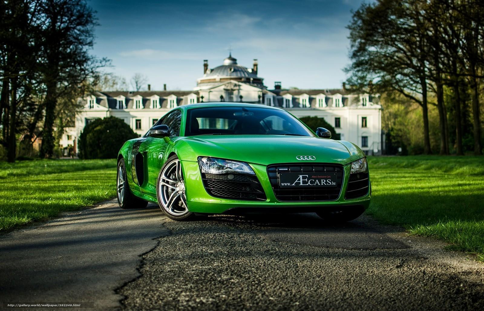 Скачать обои Audi,  зеленый,  деревья,  небо бесплатно для рабочего стола в разрешении 2048x1319 — картинка №582349