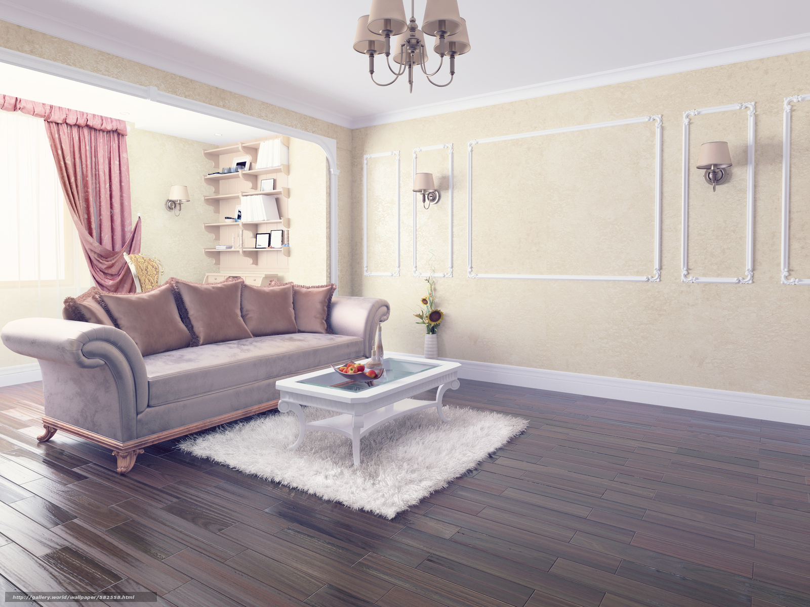 Download wallpaper room,  interior,  table,  sofa free desktop wallpaper in the resolution 4500x3375 — picture №582558