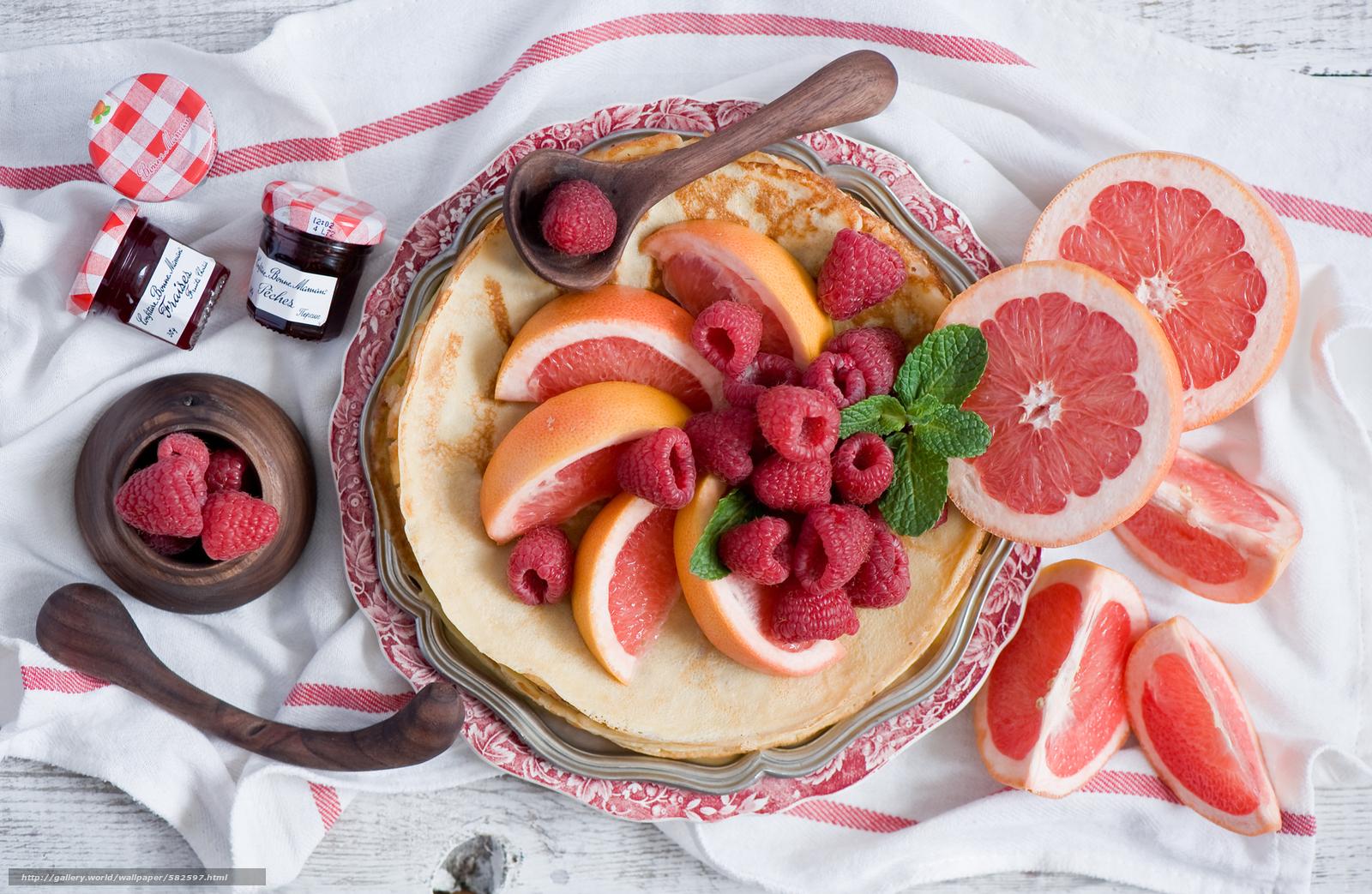 Скачать обои фрукт,  блины,  баночки,  цитрус бесплатно для рабочего стола в разрешении 2000x1304 — картинка №582597