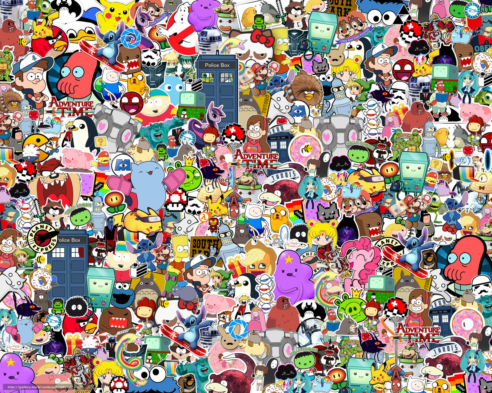 scaricare gli sfondi Heroes,  Stickers,  Cartone animato,  stile Sfondi gratis per la risoluzione del desktop 5000x4000 — immagine №582617