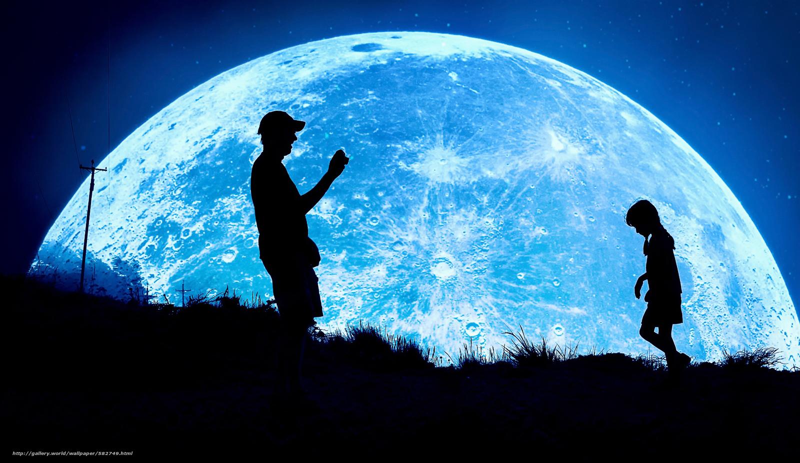 Tlcharger fond d 39 ecran nuit silhouettes lune for Ecran eizo pour photographe