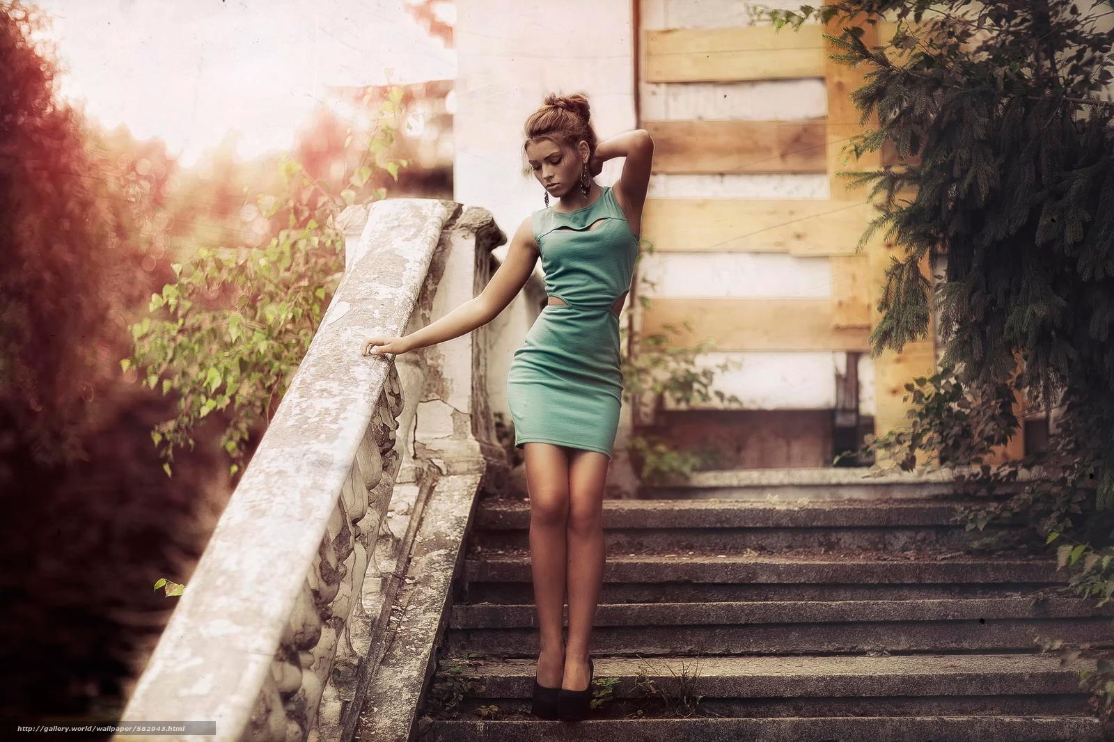 Скачать обои фото,  винтаж,  платье,  девушка бесплатно для рабочего стола в разрешении 2041x1360 — картинка №582943