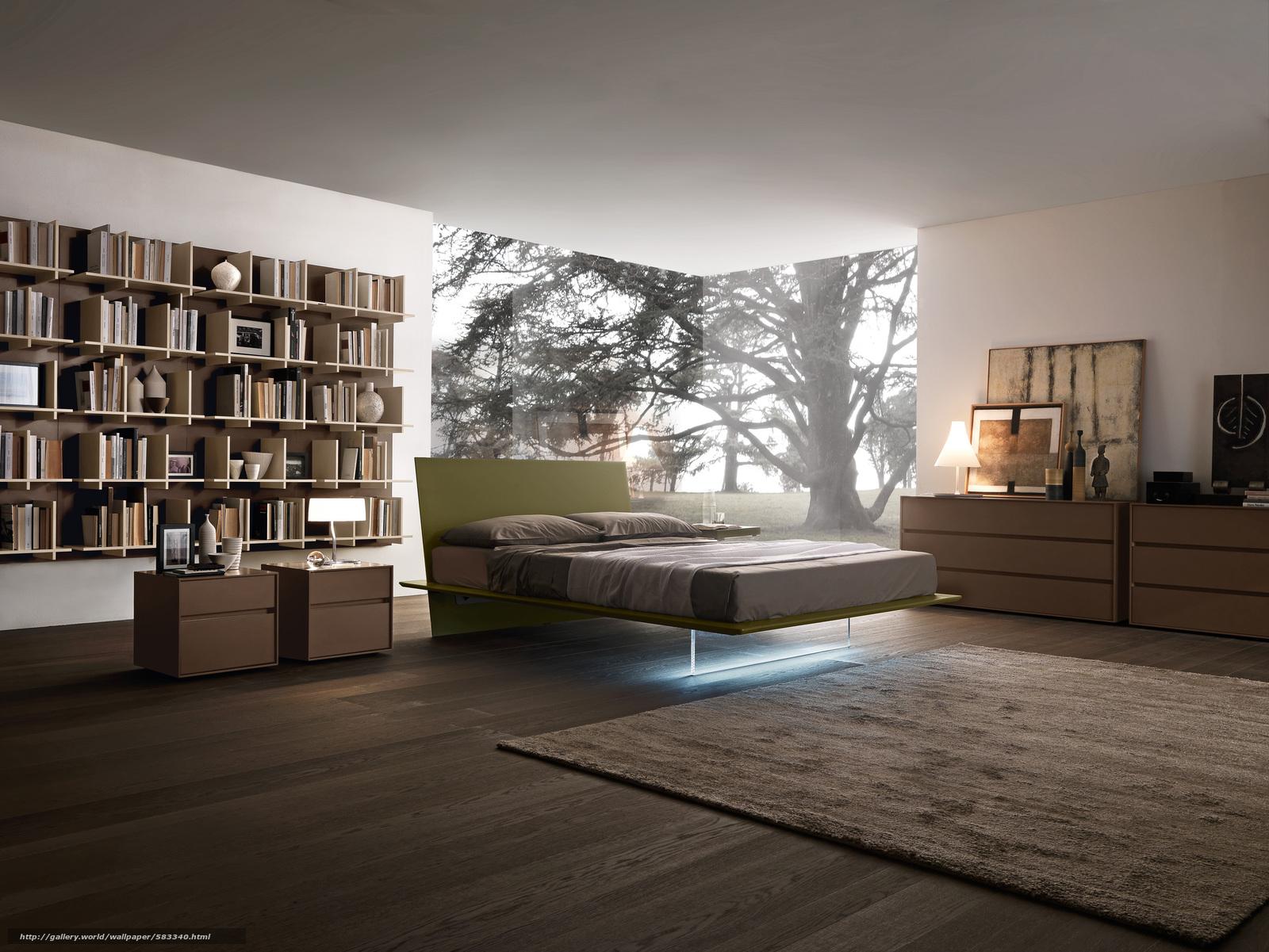 Скачать обои спальня,  комната,  вилла,  дом бесплатно для рабочего стола в разрешении 2953x2216 — картинка №583340
