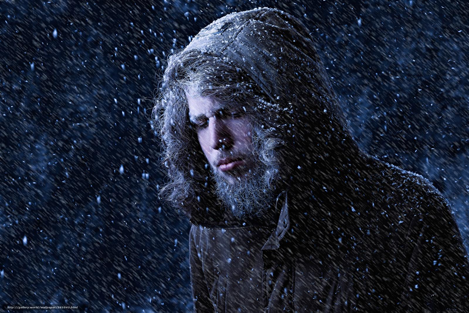 Download wallpaper snow,  cold,  portrait free desktop wallpaper in the resolution 2560x1707 — picture №583543