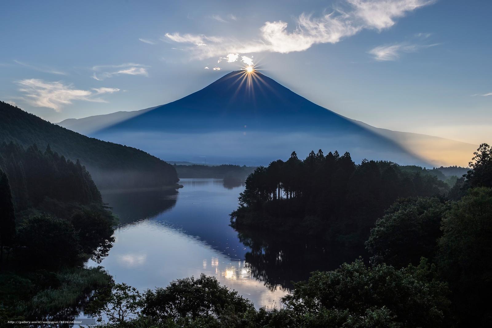 Скачать обои Фуджи,  гора,  Япония,  вулкан бесплатно для рабочего стола в разрешении 2048x1363 — картинка №583620