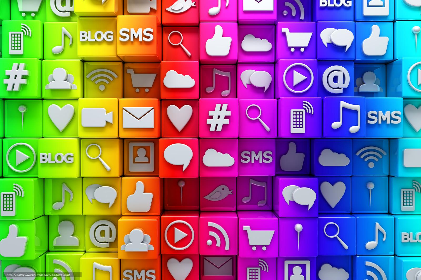 Descargar gratis Iconos,  Internet,  redes sociales,  cubos Fondos de escritorio en la resolucin 8000x5333 — imagen №583699