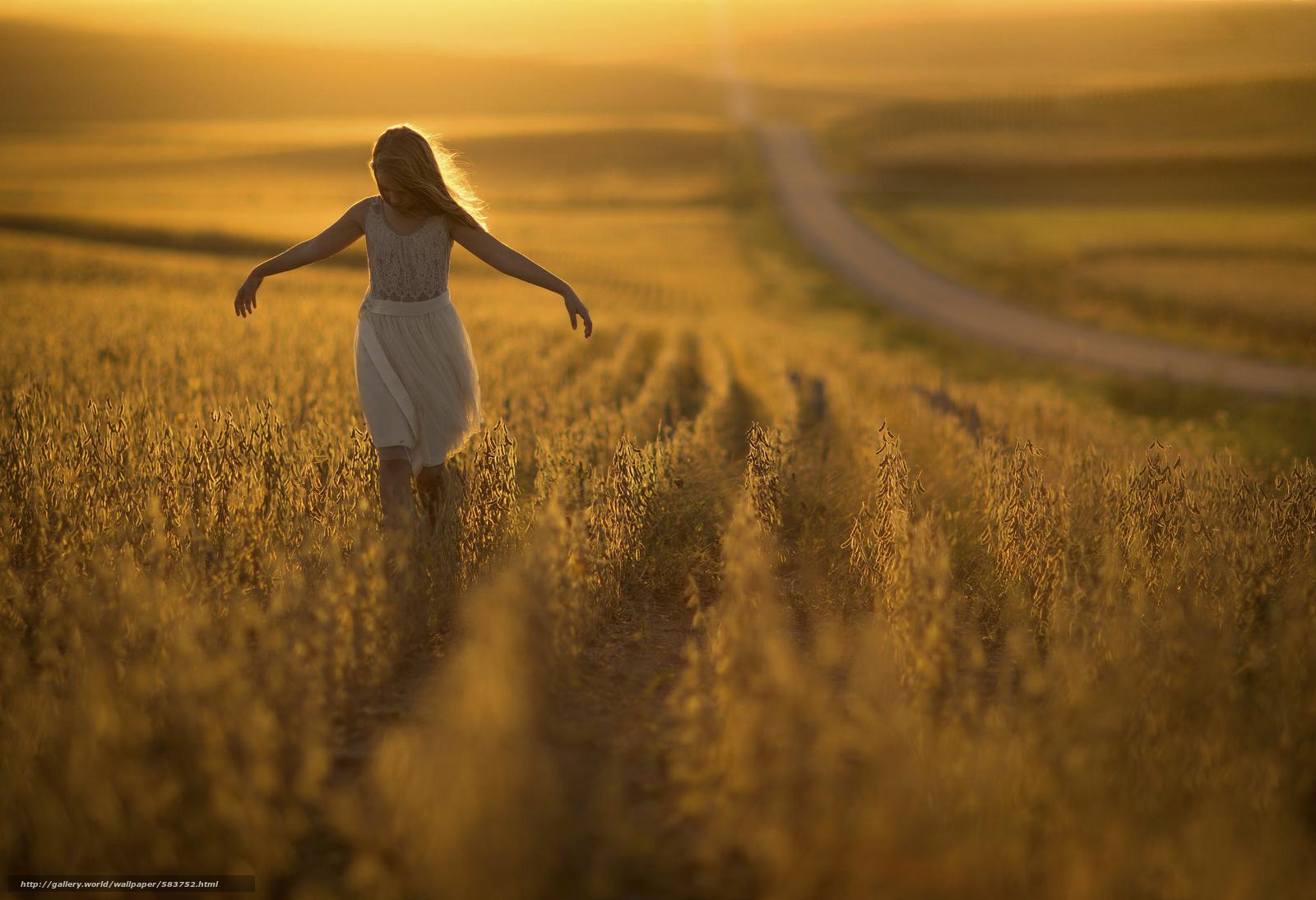 Скачать обои дорога,  девочка,  боке,  солнце бесплатно для рабочего стола в разрешении 2048x1402 — картинка №583752