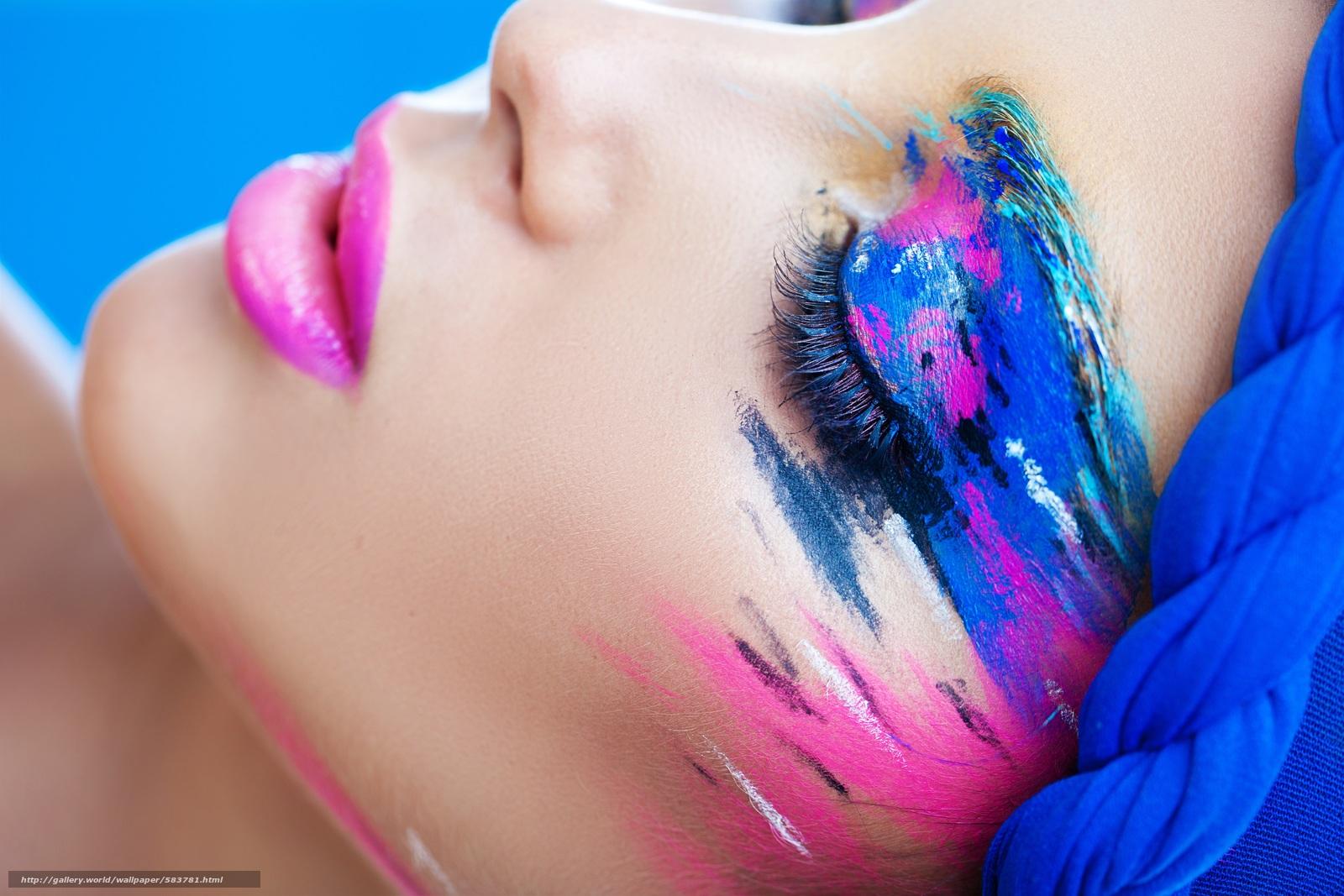 scaricare gli sfondi gli occhi chiusi,  trucco,  tonalità,  stile Sfondi gratis per la risoluzione del desktop 9000x6000 — immagine №583781