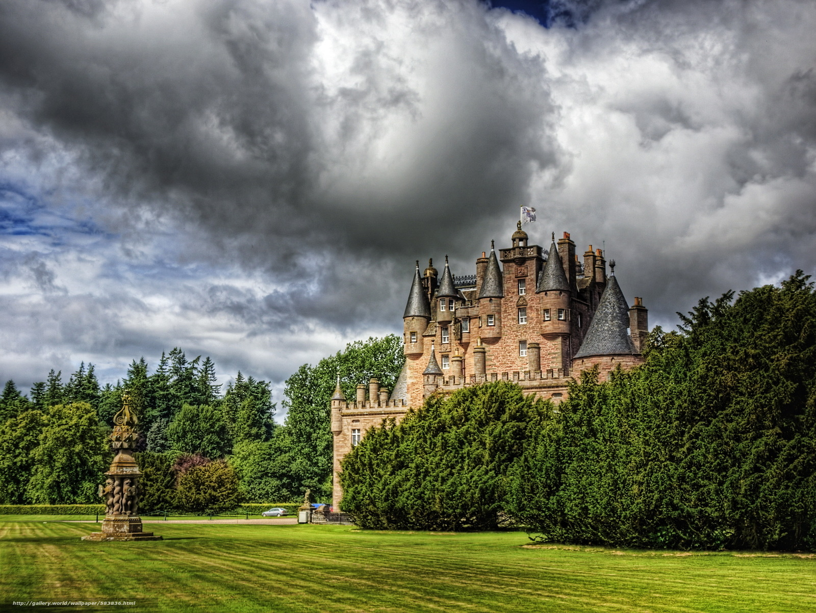 Download wallpaper photo,  clouds,  castle,  Scotland free desktop wallpaper in the resolution 2184x1641 — picture №583836