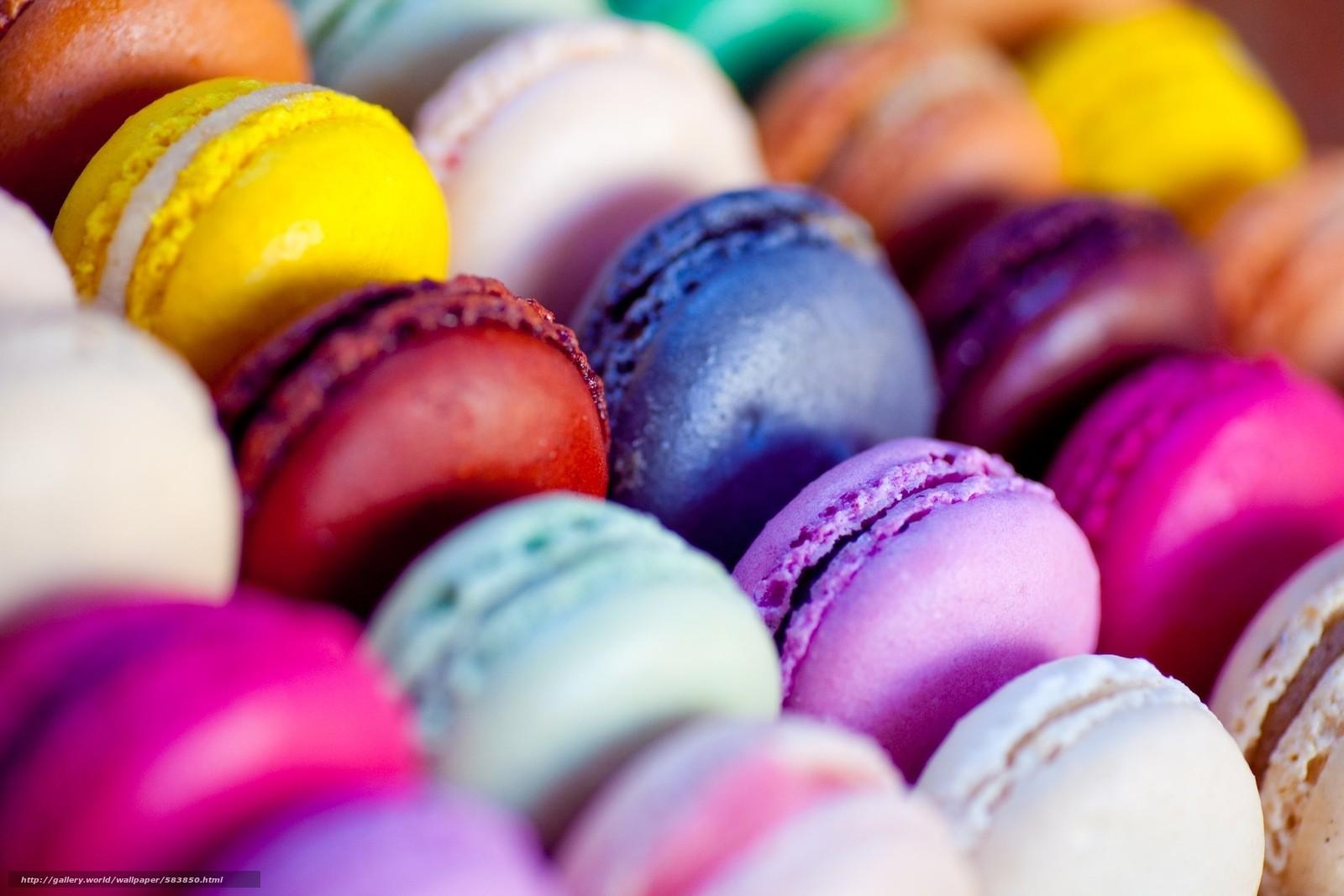 Скачать обои печенье,  питание,  красочные,  миндальное печенье бесплатно для рабочего стола в разрешении 1920x1280 — картинка №583850