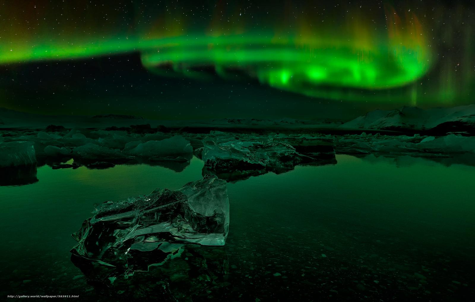 壁紙をダウンロード 夜 アイスランド オーロラ デスクトップの解像度のための無料壁紙 48x1306 絵 5911