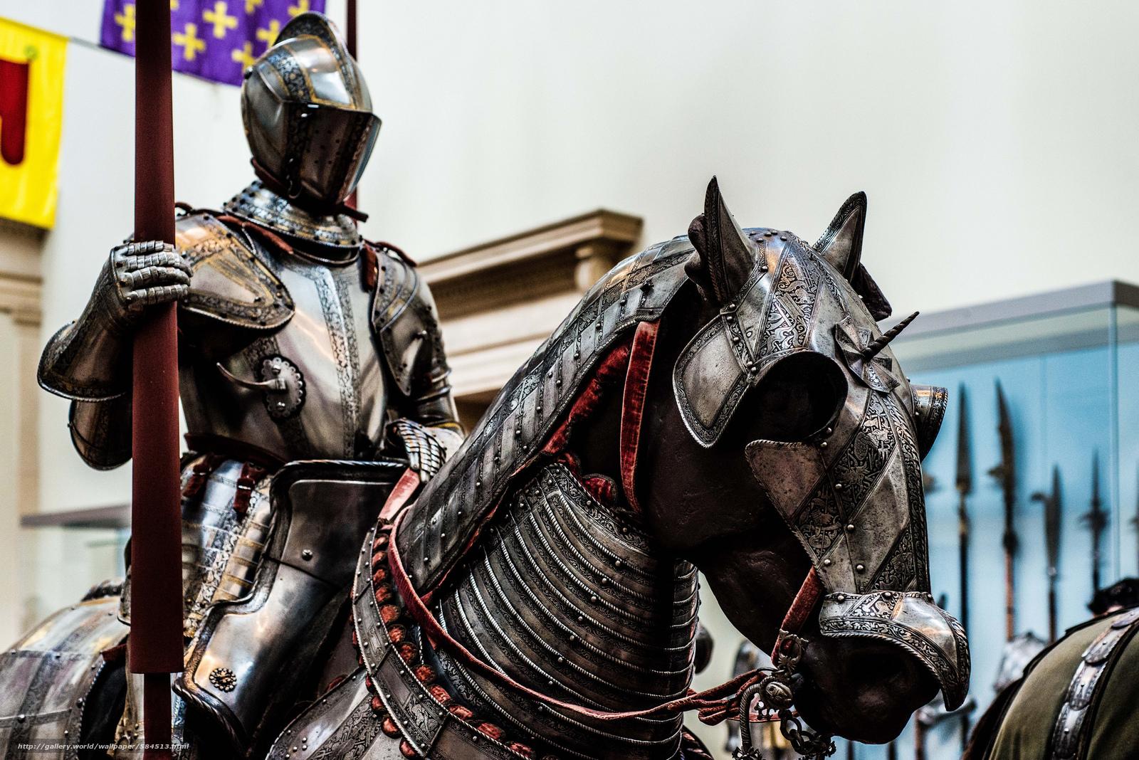 Обои доспехи, Рыцарь, лошадь. Разное foto 15