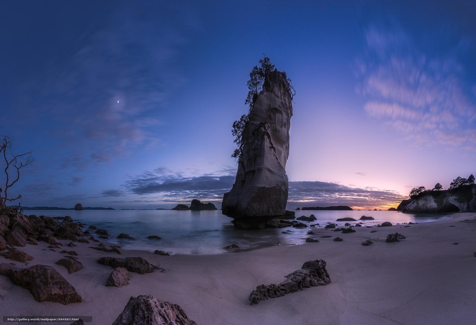 scaricare gli sfondi pietre,  crepuscolo,  spiaggia,  oceano Sfondi gratis per la risoluzione del desktop 2048x1400 — immagine №584587