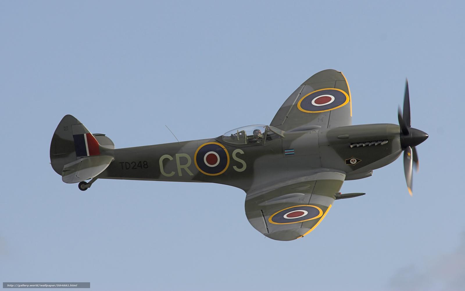 Скачать обои ВВС Великобритании,  английский истребитель времён Второй мировой войны,  Супермарин Спитфайр бесплатно для рабочего стола в разрешении 3367x2112 — картинка №584881