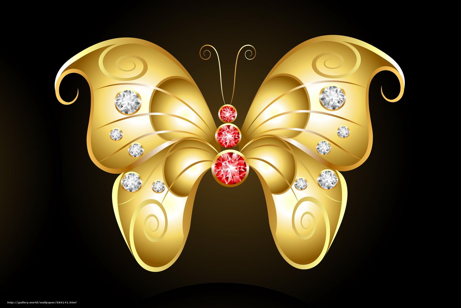 Скачать обои темный фон,  золотая бабочка,  камешки бесплатно для рабочего стола в разрешении 4882x3269 — картинка №585141